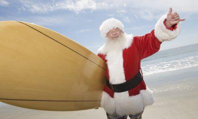 Санта на серфе
