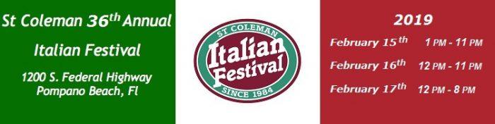 фестиваль St. Coleman Italian Festival