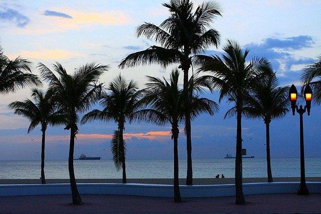 пляже Флориды